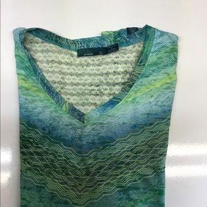Prana Short Sleeve Top Blue XL